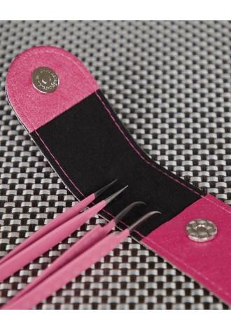 Zestaw pęset EVO 20.17 haczyk pink plus prosta w etui